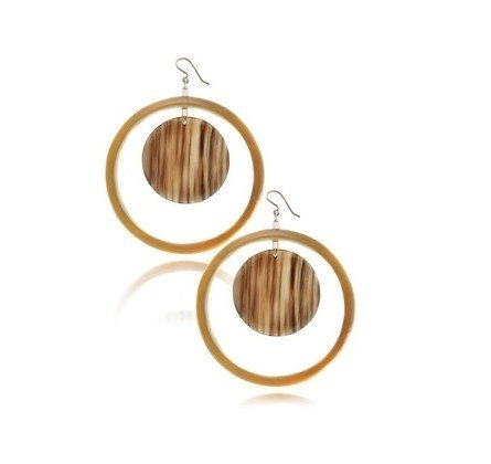 hoop earrings tortoise shell bmodish