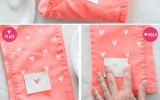 how to make heart jeans -diy fashion