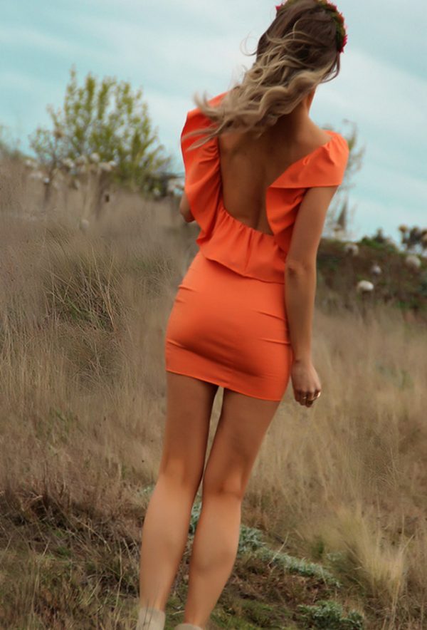sexy orange summer dress