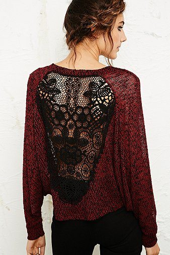 lace back sweatshirt bmodish
