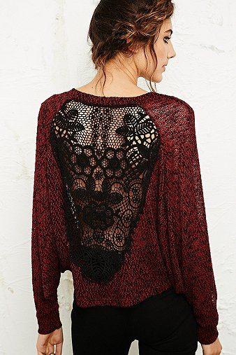 lace back sweatshirt bmodish