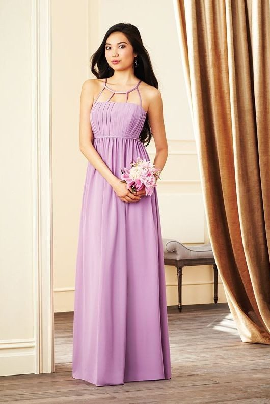 lavender long bridesmaid dress