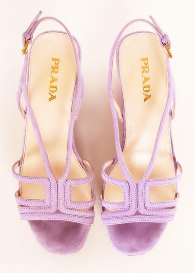 lavender prada high heels
