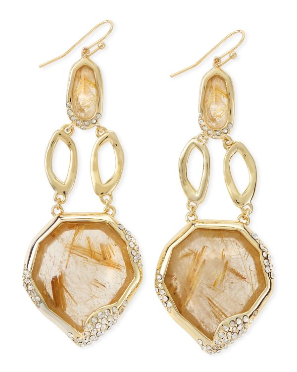 light brown rutilated earrings