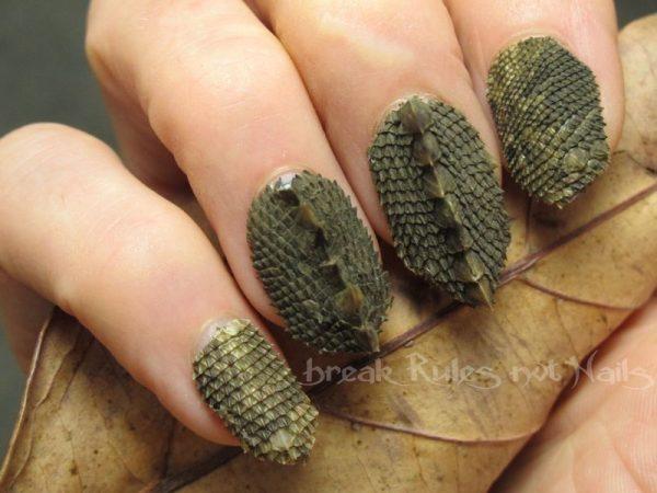 Coming up with stylish funky nail designs be modish lizard skin nail art bmodish dot com prinsesfo Image collections