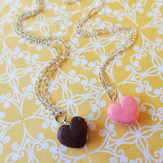macaroon heart best friend necklaces bmodish