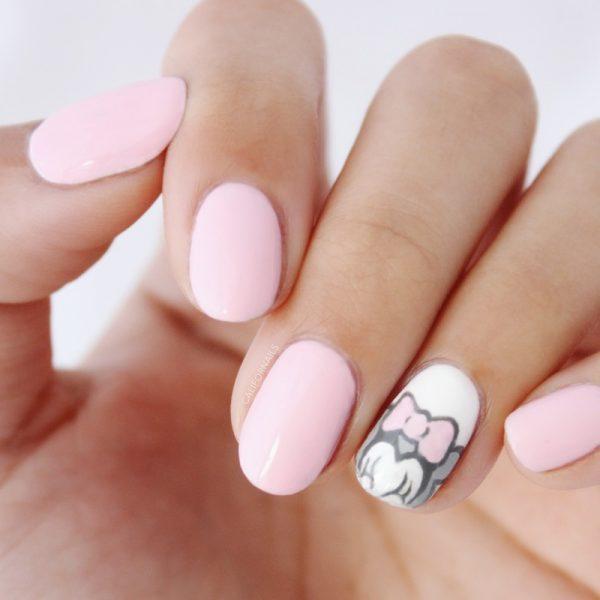 minnie mouse pink nails bmodish dot com