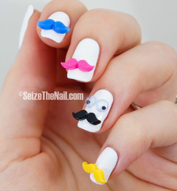 mustaches nail art bmodish dot com