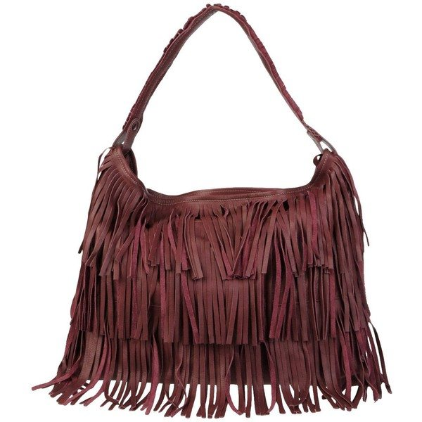 nardelli large leather fringe handbag