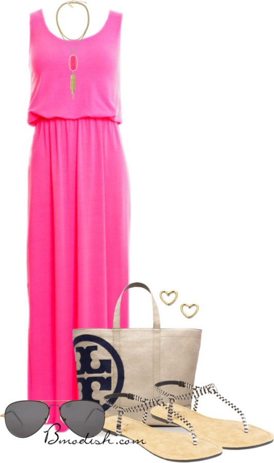 neon done right maxi dress outfit bmodish