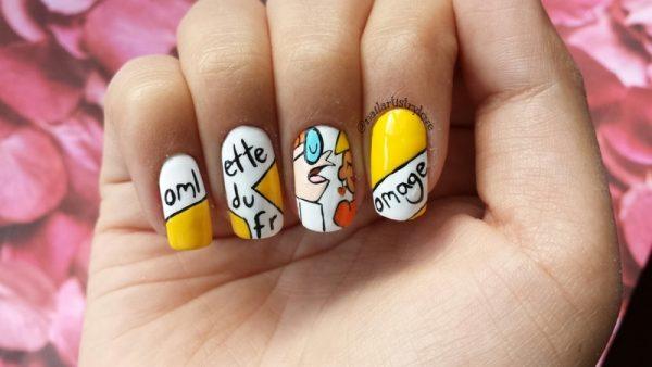 omelett nail art