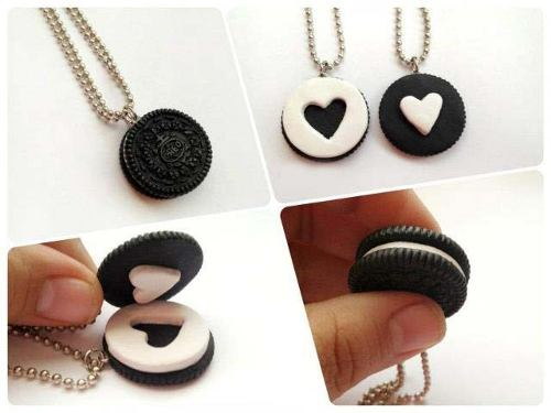 oreo inspired best friend necklace bmodish