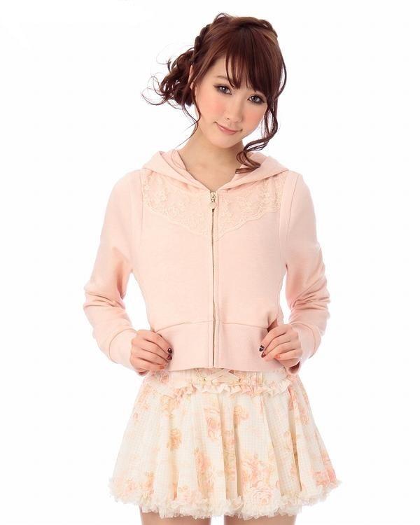 patel pink lace hoodie bmodish