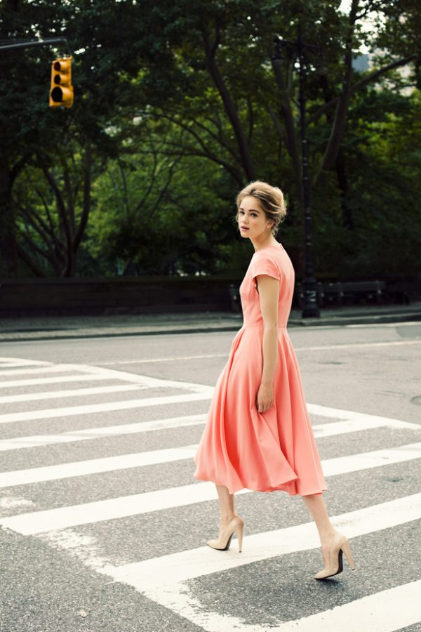 peach dress tumblr