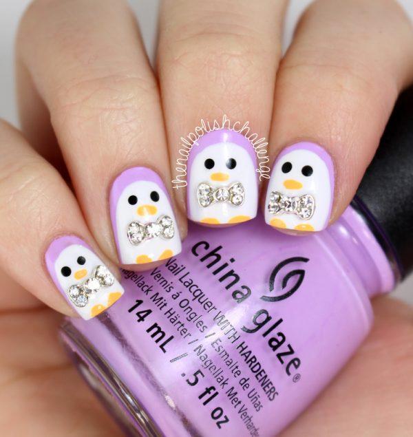 pinguin nail art bmodish dot com