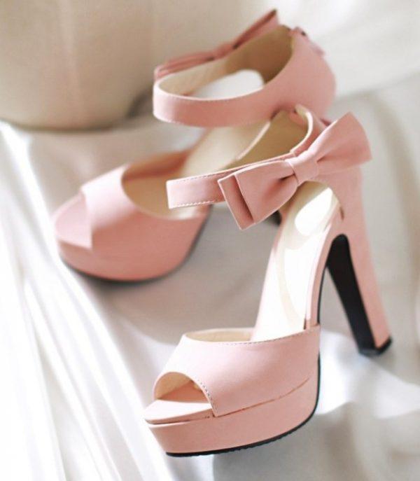pretty blush pink high heels