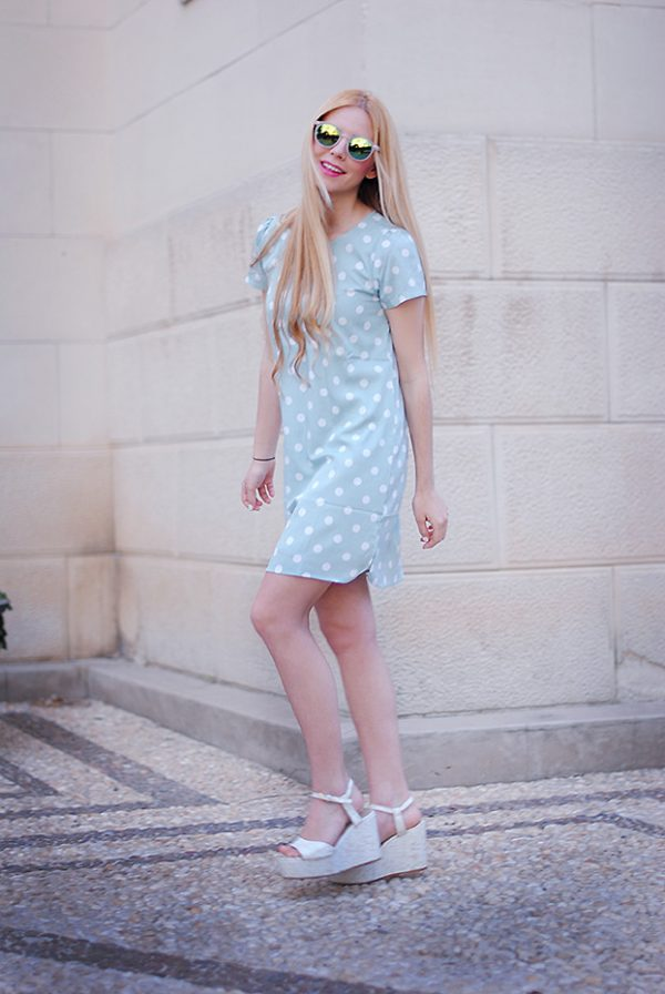 pretty polka dots dress