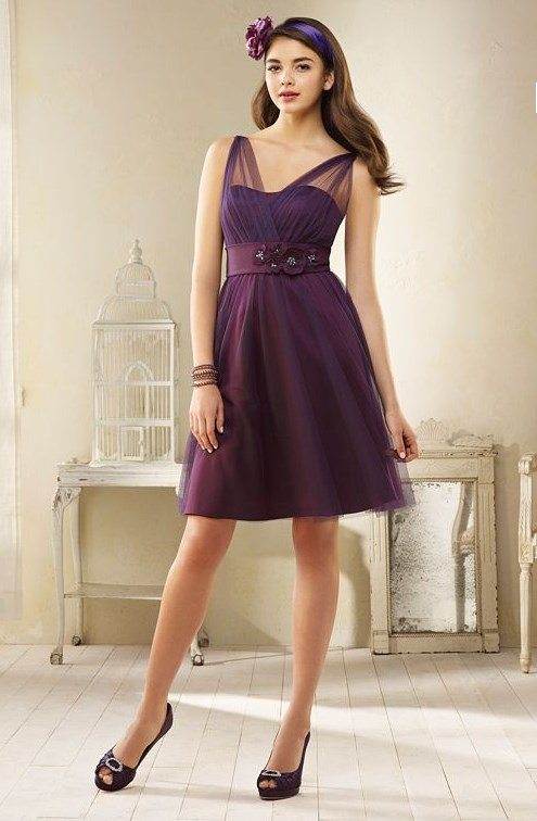 pretty purple bridesmaid dress