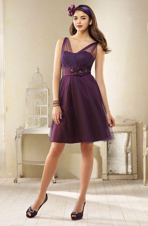 pretty purple bridesmaid dress