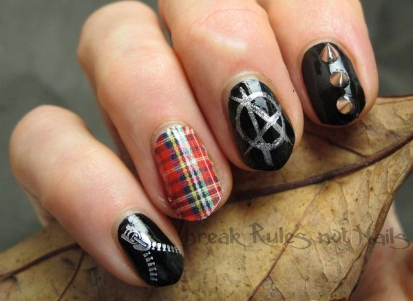 punk nail art bmodish dot com