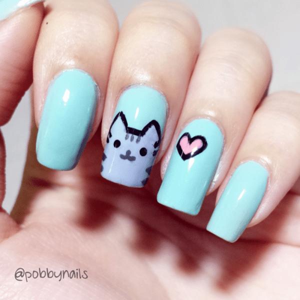pusheen nails nail design bmodish dot com