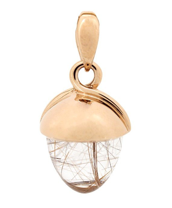 rutilated quartz with gold