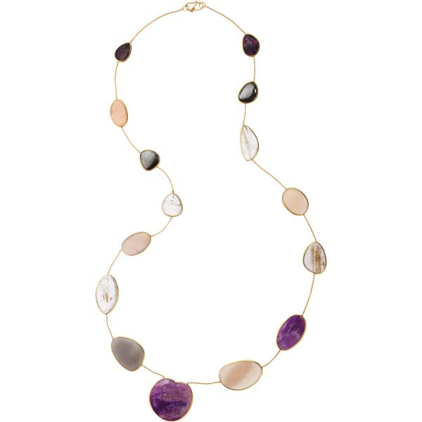 rutilated stone necklace