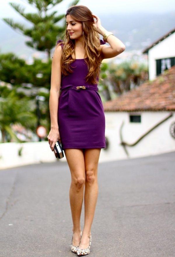 violet summer dress