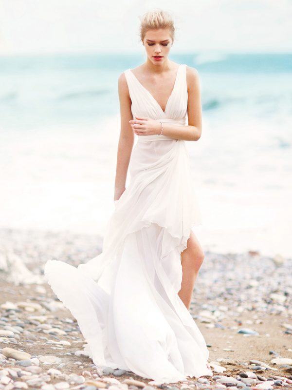 silk beach wedding dress