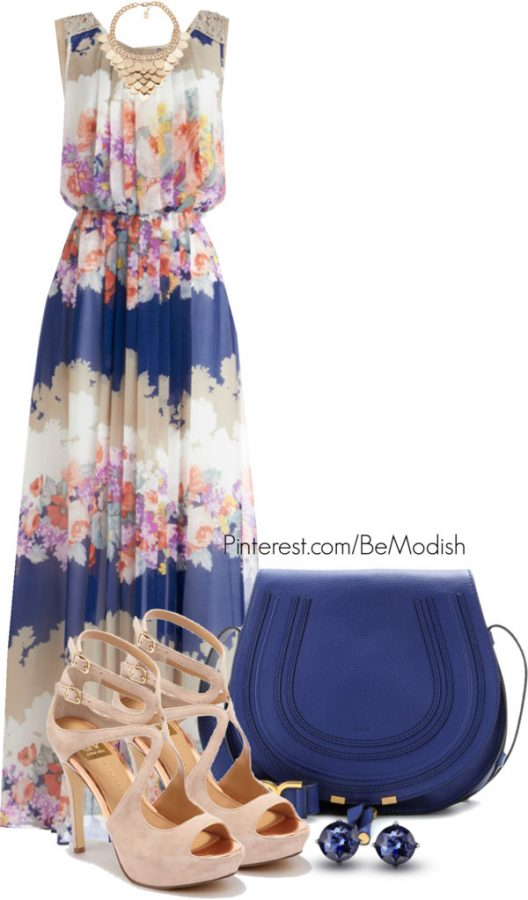 simple summer maxi dress outfit idea bmodish