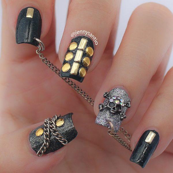 skull nail art bmodish dot com