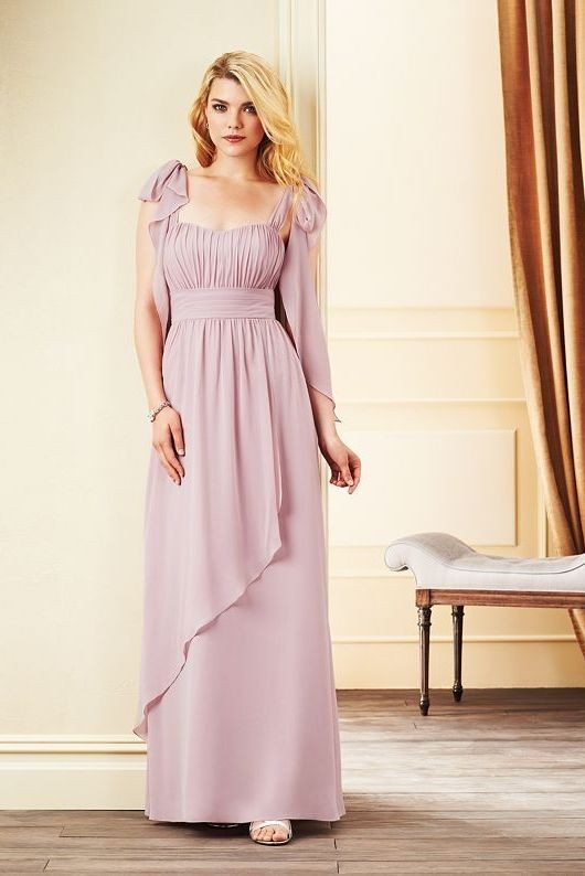 soft lavender bridesmaid dress