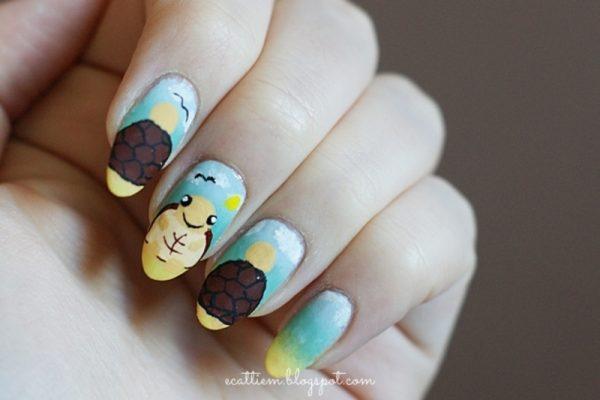 stand out turtle nail art bmodish dot com