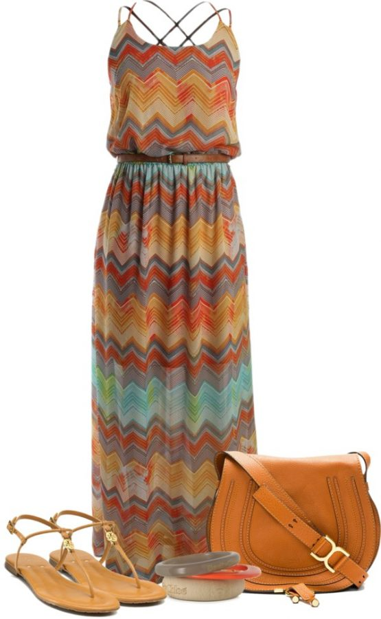 summer maxi dress outfit idea bmodish