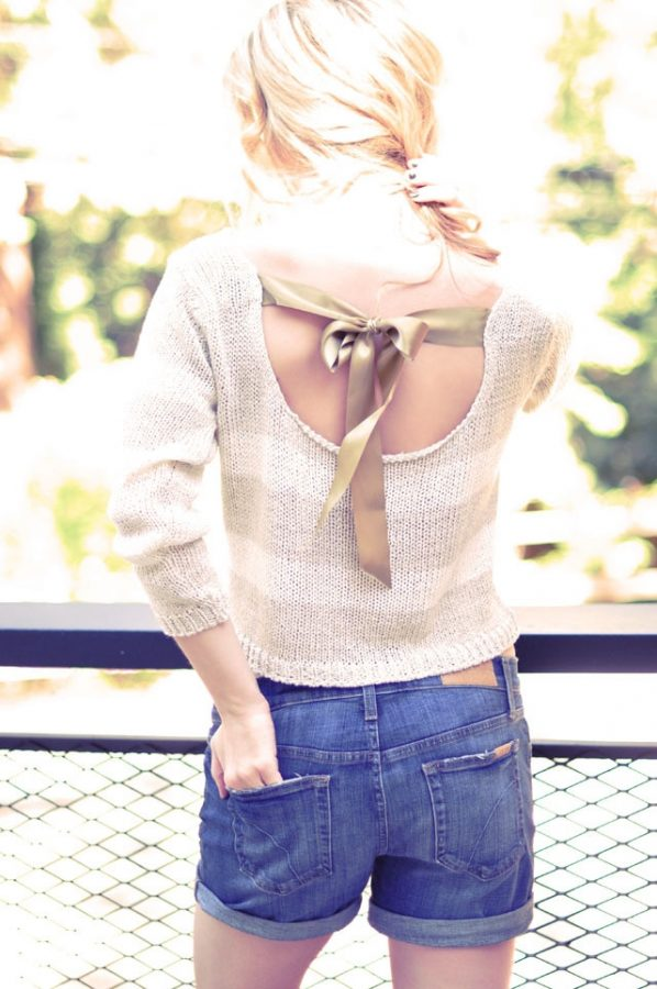 summer top with bow