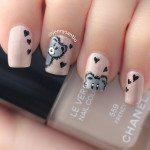 teddy bar nail art bmodish dot com
