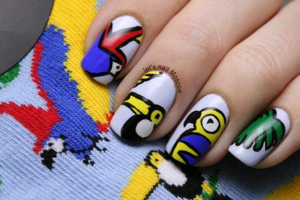 topshop tropical nail art