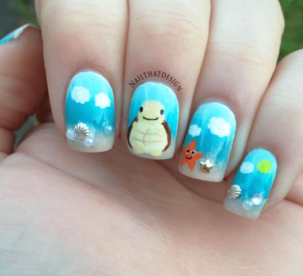turtle nail art bmodish dot com