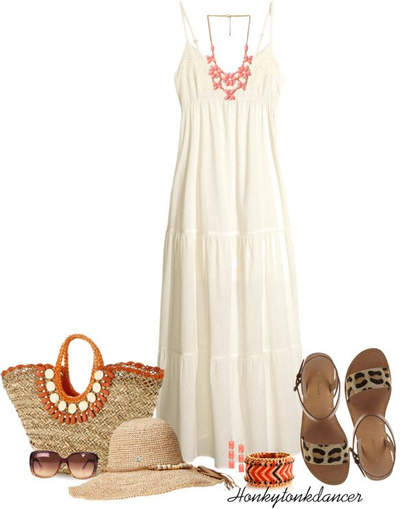 white beach maxi dress outfit bmodish