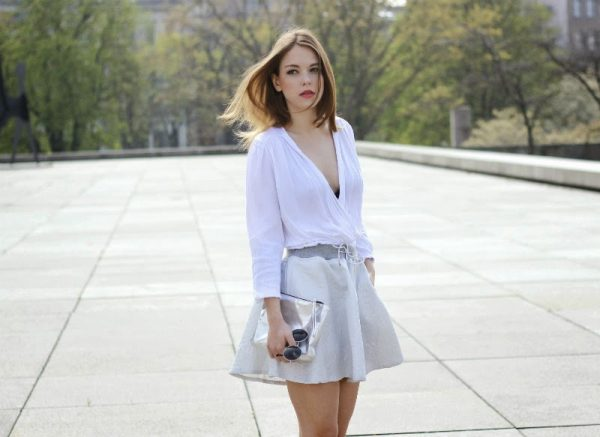 white blouse and skirt bmodish