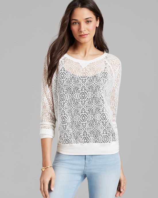 white lace sweatshirt bmodish