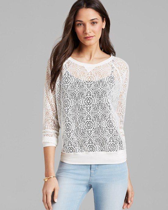 white lace sweatshirt bmodish