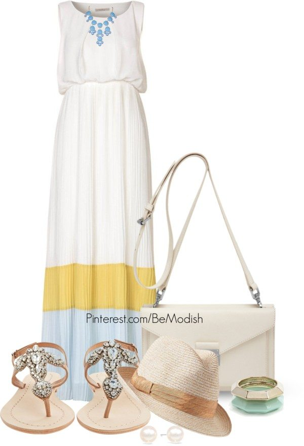 white maxi dress outfit idea bmodish