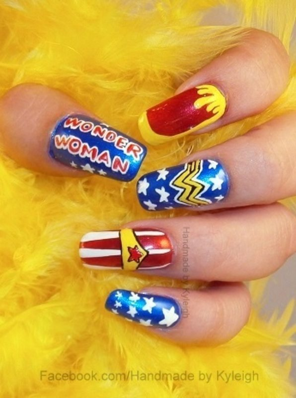 wonder woman nail art bmodish dot com