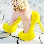 yellow heels tumblr