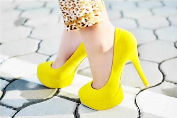 yellow heels tumblr