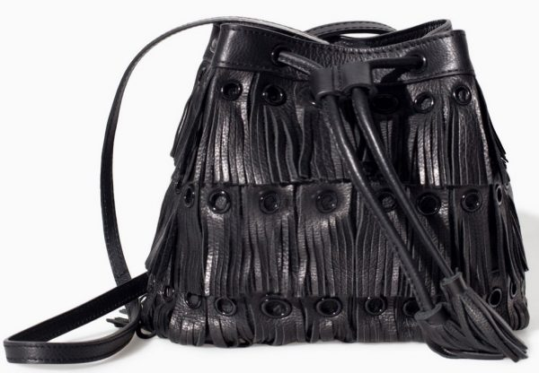 zara black fringe crossbody
