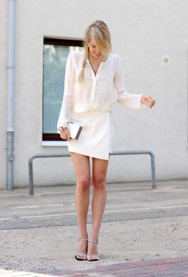 zara-seide-mango-glitter blouse with skirt bmodish