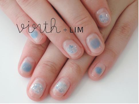 baby blue glitter nail art bmodish