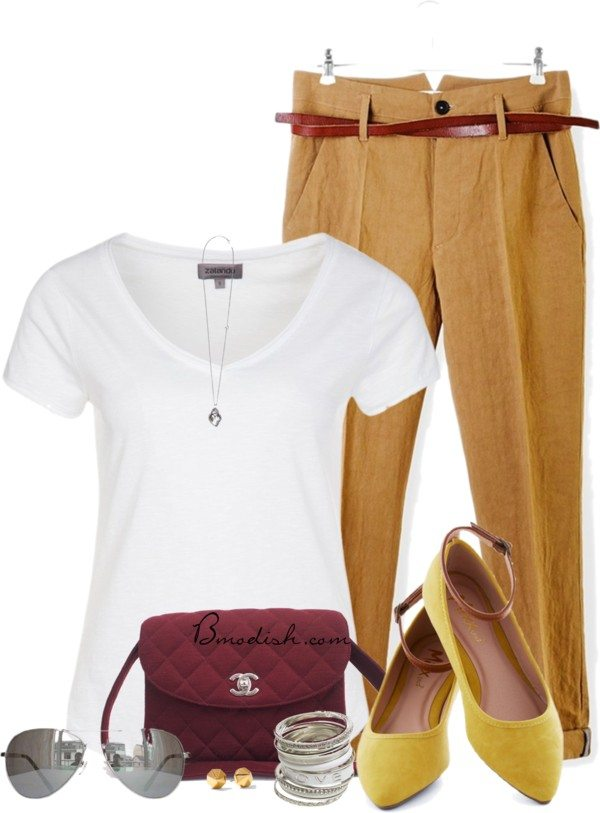basic shirt with chino pant outfit bmodish